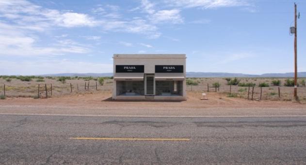 A flower shop in the desert